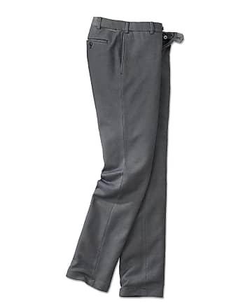 Hiltl Pantalon Dx{2019}affaires En Jersey Hiltl, 44E   Gris/Bleu