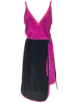 1686069287a 1stdibs Vintage Muriel Grateau Pink And Black Silk Dress Ensemble