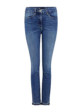3x1 High-rise Channel Seam Skinny Cropped Jeans Light Blue
