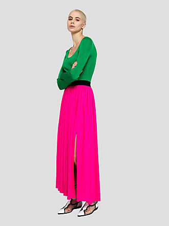 Msgm solid color long skirt