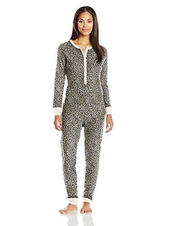Fruit Of The Loom Womens Waffle Thermal Union Suit, Natural Animal Print, Medium/Large