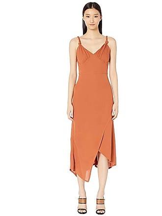 Yigal AzrouËl Knotted Strap Matte Jersey Dress (Terracotta) Womens Dress