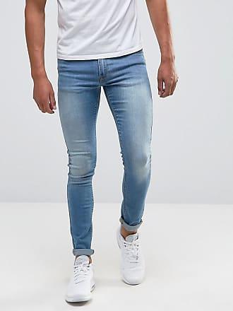 Asos extreme super skinny jeans in light wash - Blue