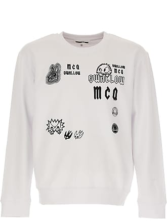 Alexander McQueen Sweatshirt for Men On Sale in Outlet, White, Cotton, 2017, L M XL