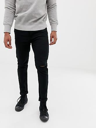 Brave Soul Schwarze Skinny-Jeans mit Zierrissen