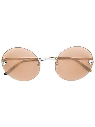 af8d95afeb5 Cartier Óculos de sol Panthère de Cartier - Metálico
