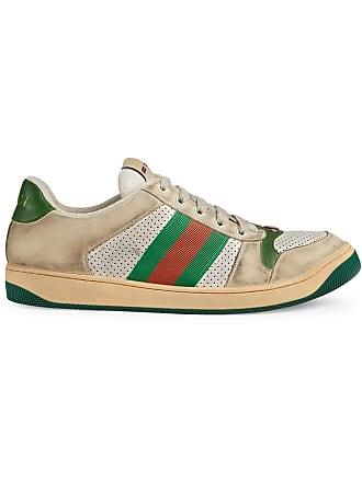 Gucci Tênis Screener de couro - Neutro 6733ac04722