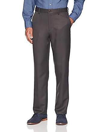 Amazon Essentials Mens Expandable Waist Classic-Fit Flat-Front Dress Pants, Dark Grey, 29W x 29L