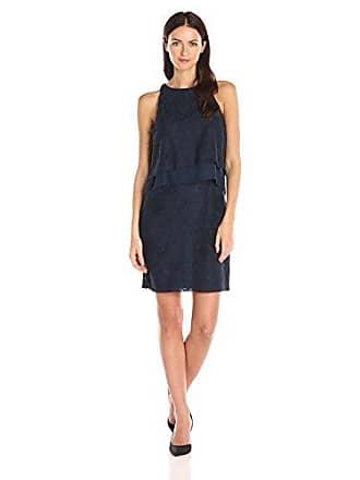 Betsey Johnson Womens Lace Popover Dress, Navy 12