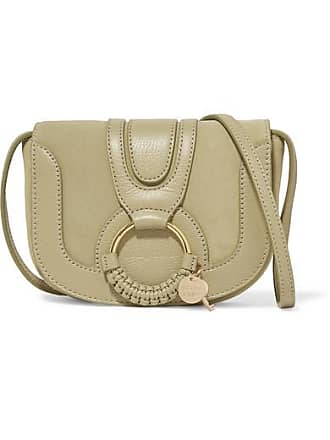 See By Chloé Joan Mini Textured-leather And Suede Shoulder Bag - Beige