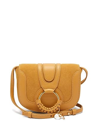 See By Chloé Hana Mini Leather And Suede Cross Body Bag - Womens - Yellow