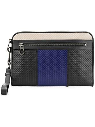 b2f37a8c999b4 Bottega Veneta Intrecciato weave clutch bag - Black