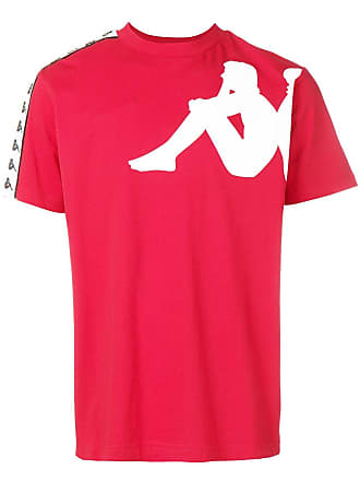 Kappa logo trimmed T-shirt - Red