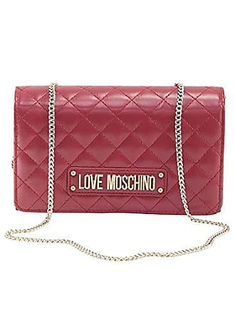 Love Moschino Quilted Nappa Pu, Pochettes femme, Rouge (Rosso), 15x10x15 cm 5b34532adfa1