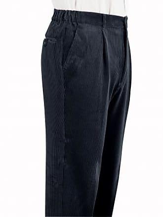 Blancheporte Pantalon velours pinces taille élastiquée - gris 86df4664db5