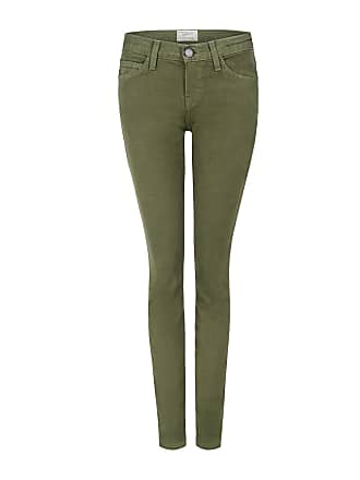 Current Elliott The Ankle Skinny Jeans Army Green