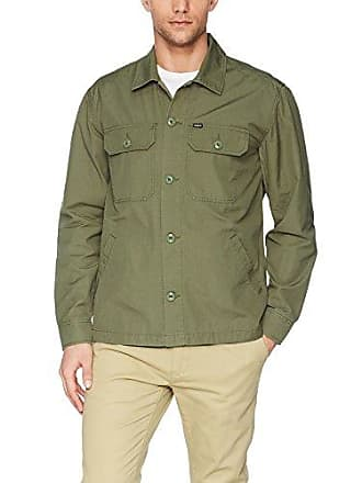 Obey Mens Stewart Military Jacket, Army, M