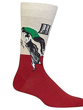 Hot Sox Mens Famous Artist Series Novelty Crew Socks, The The Birthday (Red), Shoe Size: 6-12