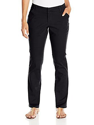 Lee Lee Womens Petite Midrise-Fit Essential Chino Pant, Black, 14 Short Petite