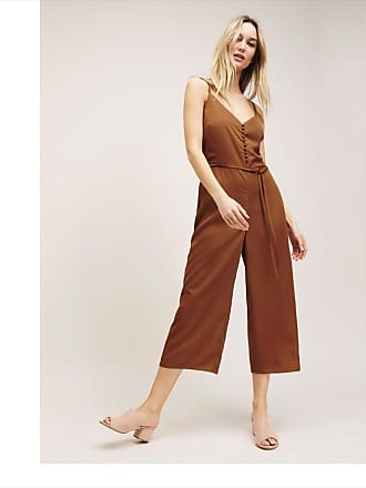 Dynamite Button Cami Jumpsuit Salted Caramel
