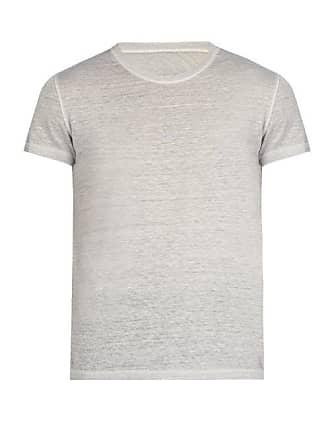 120% Lino Linen Crew Neck T Shirt - Mens - Grey