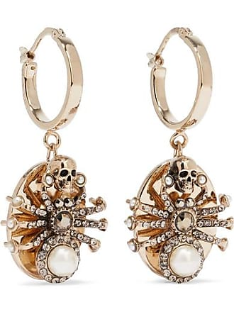 f34ae8b62 Alexander McQueen Gold-tone Swarovski Crystal And Faux Pearl Earrings - one  size