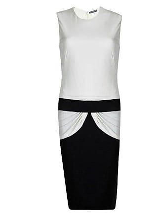ee09f7fb12a Alexander McQueen Alexander Mcqueen Monochrome Knit Draped Sleeveless Dress  M