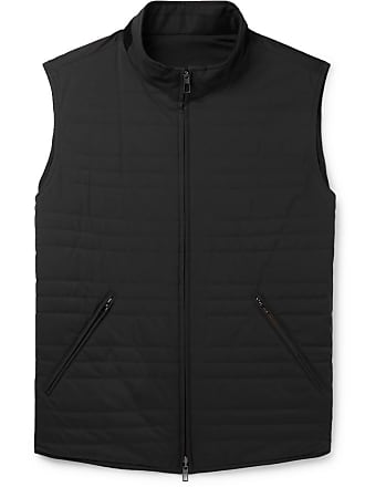 Loro Piana Reversible Quilted Storm System Shell And Virgin Wool-blend Gilet - Black