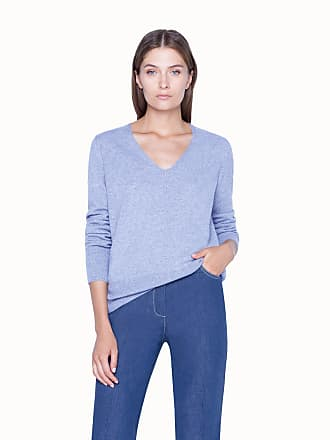 Akris Knit Pullover in Cashmere with Ribbed Hem and Cuffs