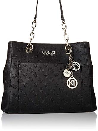 Guess Womens Ilenia Girlfriend Carryall Shoulder Bag, Black, One Size