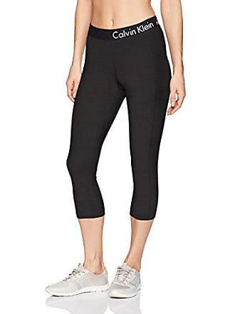 045aad3430731 Calvin Klein Womens Logo Elastic Crop Tight with Runner Pockets, Black, S