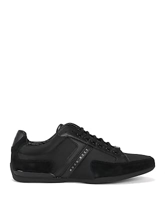 BOSS Material-mix sneakers with rubber sole