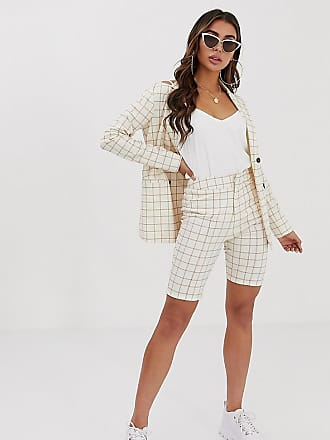 Unique21 fitted longline shorts two-piece - Cream