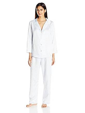 5d84ca3e476b53 Oscar De La Renta Pink Label Womens Classic Printed Matte Satin Pajama Set