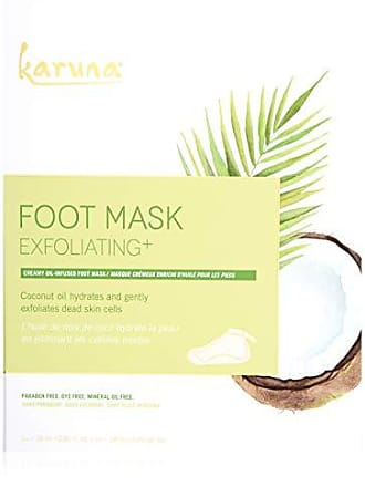 Karuna Exfoliating+ Foot Mask Box, 4 CT