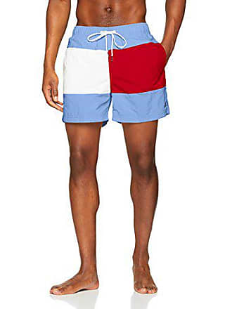 0b4c33c1f4f6 Tommy Hilfiger Medium Drawstring Costume da Bagno, Rosa (Ultramarine Blue- Tango Red 799