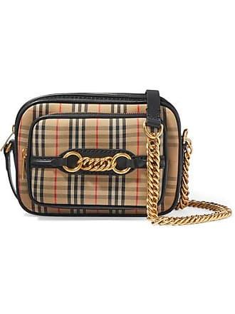 001c37cb5df Burberry Embellished Leather-trimmed Cotton-blend Canvas Camera Bag - Beige