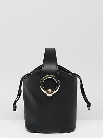 8e846c3d762 Aldo Bankston black bucket bag with gold metal hardware