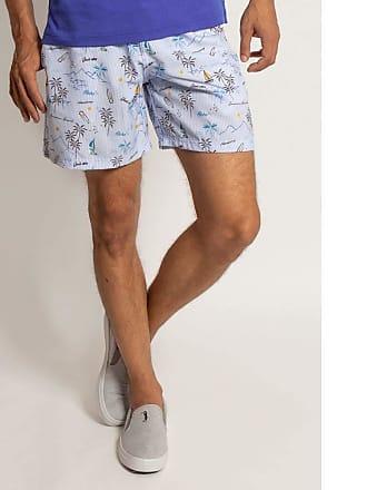 Aleatory Shorts Aleatory Estampado Aloha-Azul-M