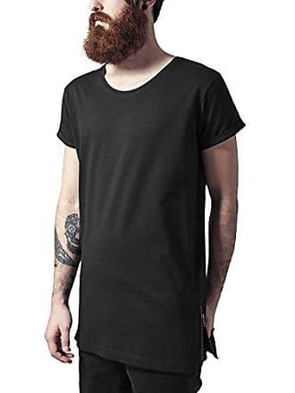 9a6a6925756f41 Urban Classics TB1225 Herren T-Shirt Long Shaped Side Zip Tee