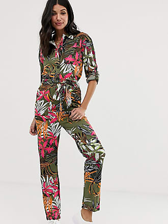 a4f6cd613388 Asos Tall ASOS DESIGN Tall - Combinaison à imprimé tropical style workwear  - Multi