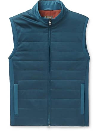 Loro Piana Storm System Quilted Shell And Virgin Wool Gilet - Blue