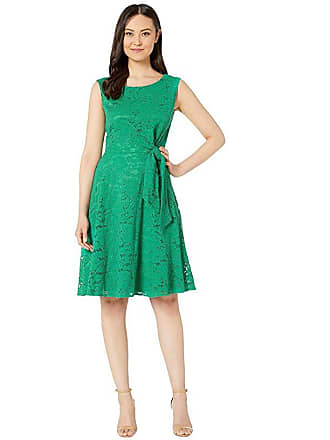 8f64f7e4573df Tahari by ASL Stretch Lace Side Tie Fit and Flare Dress (Tropical Green)  Womens. In high demand