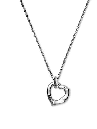 Gucci Silver Bamboo Heart Necklace