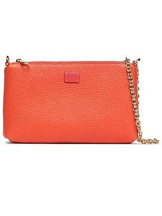 bf77a37c9f Dolce & Gabbana Dolce & Gabbana Woman Pebbled-leather Clutch Bright Orange  Size