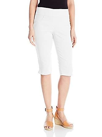 Ruby Rd. Womens Petite Pull-On Faux Fly Super Stretch Solar Millennium Tech Clamdigger, White, 22W