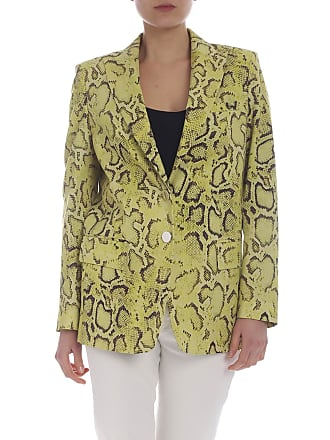 Pinko Yellow and brown Dorotea lined jacket