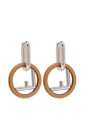 018ee2879 Fendi F Is Fendi Hoop Earrings - Womens - Brown