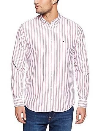 75ecd891 Tommy Hilfiger Tommy Hilifiger Mens Crest Short Sleeve Shirt, Red/Medium  Blue/Bw