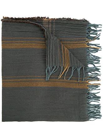 Uma Wang striped fringed scarf - Grey